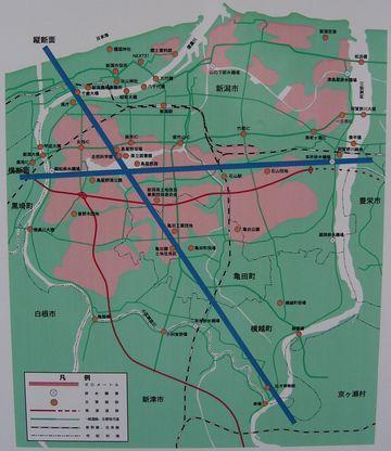 亀田郷平面図