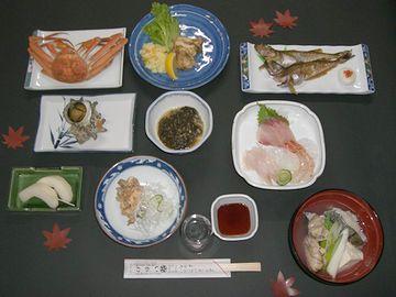 民宿『いがわ』1泊8,000円コースの料理