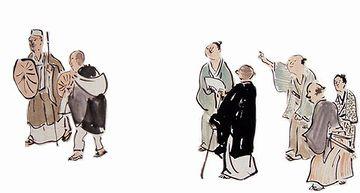 奥の細道図(与謝蕪村)