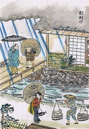 江戸時代の藍染川(元図には彩色なし)