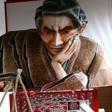 """津軽三味線会館には、なんと、太宰の""""ねぷた""""がありました"""