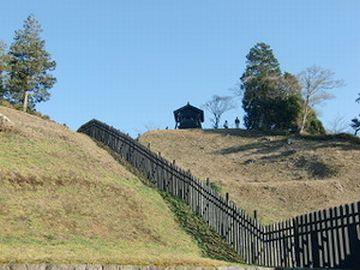 山の上まで、ずーっと柵が巡らされてました