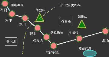磐越西線は、新津から喜多方までは非電化でしたな