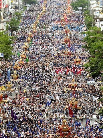 現在の「富岡八幡宮例大祭」