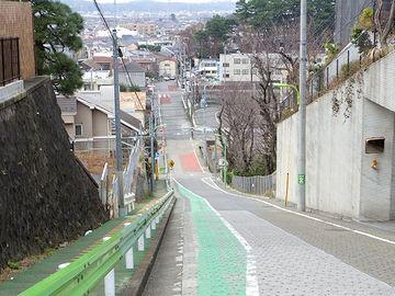 世田谷区岡本にある「富士見坂」