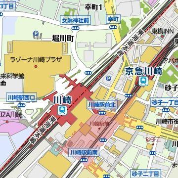 京急川崎駅とJR川崎駅は、離れてた