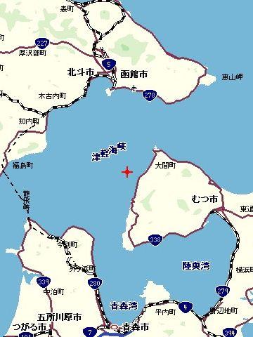 津軽海峡?