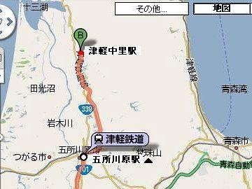 津軽鉄道は、ここ『津軽五所川原』から『津軽中里』までだよね