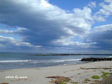 秋の海って、やっぱりちょっと寂しいわね