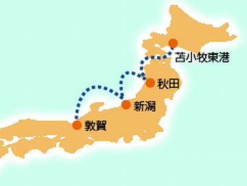 「敦賀~苫小牧」ルート