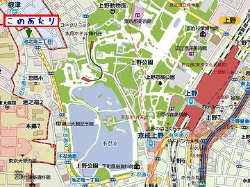 池之端は、上野駅のそばです
