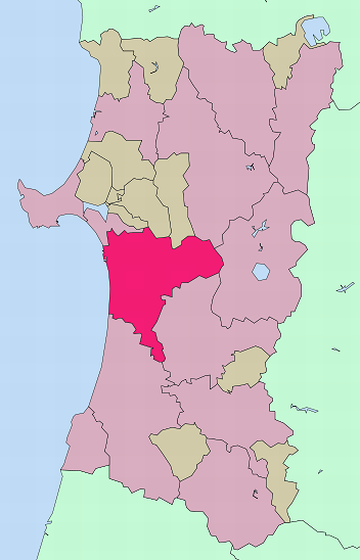 秋田市位置図