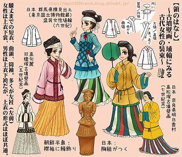 綺麗に着飾った女性が歩いていた古墳時代