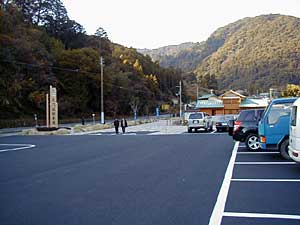 大門坂の駐車場