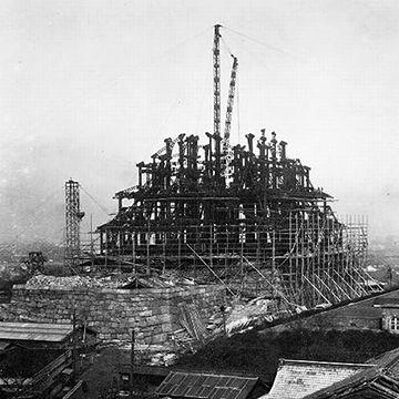 築城が始まったのは、天正十一年