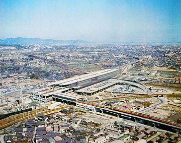 開業当時(1964年)の『新大阪駅』。今より未来的な感じがしますね。