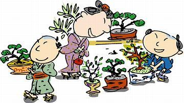 仕事の合間に、植木の世話も出来たのでしょう