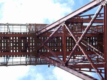 鉄橋は、軌道がスケスケですから