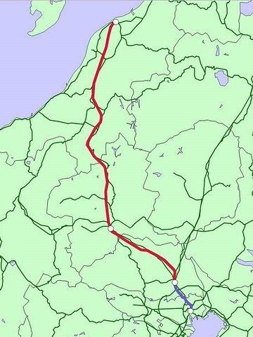 上越新幹線路線図