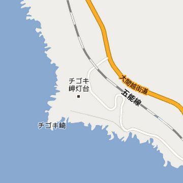 チゴキ崎灯台位置図