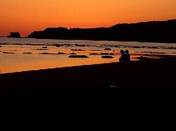 鵜ノ崎に沈む夕日