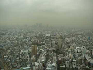 日本に降ってくる黄砂