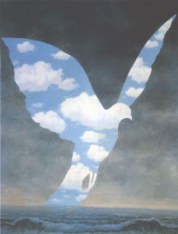 マグリット:鳩の絵
