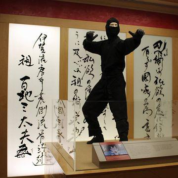 『国際スパイ博物館』の展示には、にゃんと忍者が