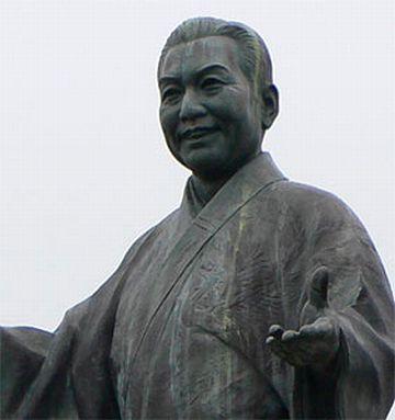 新潟県長岡市塚野山(生誕の地)に建つ銅像