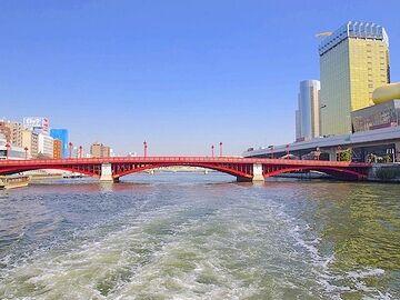 吾妻橋を潜った直後