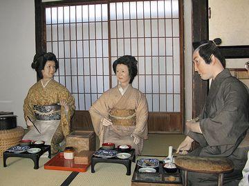 長崎県島原市にある武家屋敷。こういう人形には、妙に引かれます。