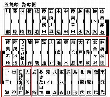赤枠で囲った18駅が、深浦町にあります。