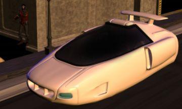 自家用車みたいな車が、空飛んでる