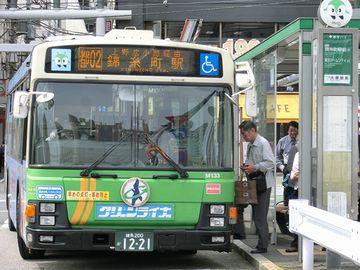 新潟のバスと違って、前から乗るのに少し面食らいました