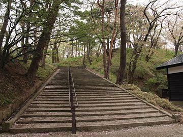 千秋公園・長い坂