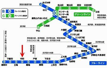 神奈川県藤沢市の『湘南台駅』から横浜市青葉区の『あざみ野駅』までを結ぶ横浜市営地下鉄