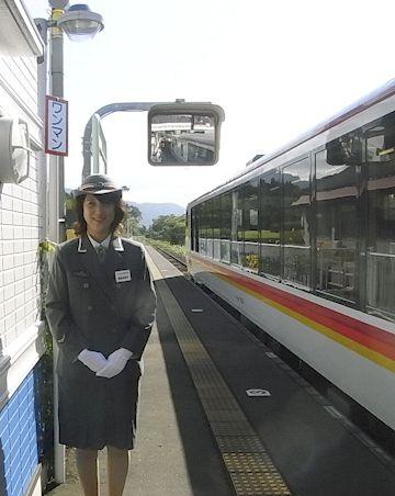 駅長さんの写真は撮れたの?