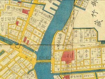 江戸時代の両国橋地図