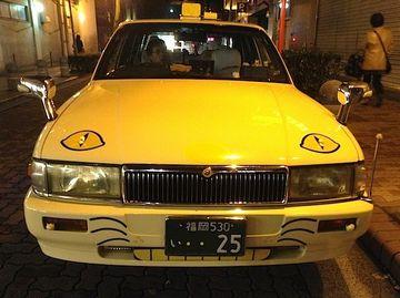福岡に実在するネコタクシー。目撃した人は幸せになれるとか。