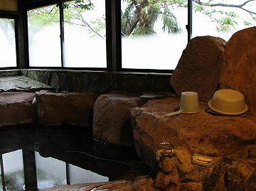 「とくなが荘」のお風呂・内部