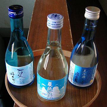 3種類のお酒が、300ml瓶で2本ずつ