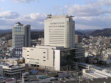 岡山駅。大都会ですねー。新潟駅はあまりにもショボイので、立派な駅を見ると羨ましくなります。