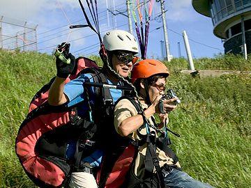 寒風山パラグライダー・インストラクターと2人乗りの体験コース