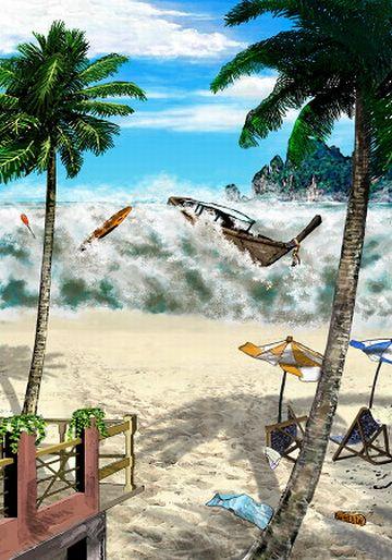 それで、大津波が起きるわけよ