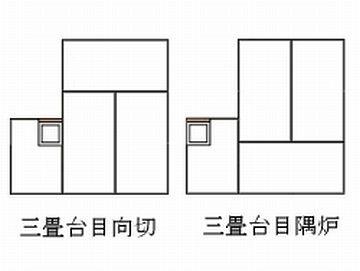 『三畳台目』の茶室