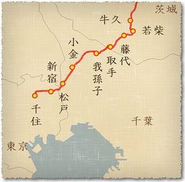 『松戸宿』は、水戸街道の千住宿から2つ目の宿場町