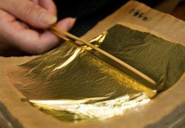 金箔ってのは、金を薄く伸ばしたものです