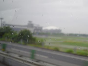 真ん中に白く見えるのが、アルビレックス新潟のホーム球場です