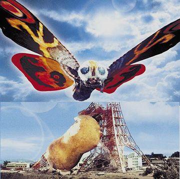 モスラは、東京タワーに繭作った