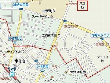 『小作』駅から徒歩10分ほどのところに、東芝の青梅工場があるんです